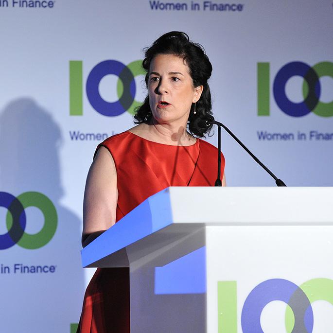 Presentation of 100WF's Effecting Change Award 100 Women in Finance London Gala
