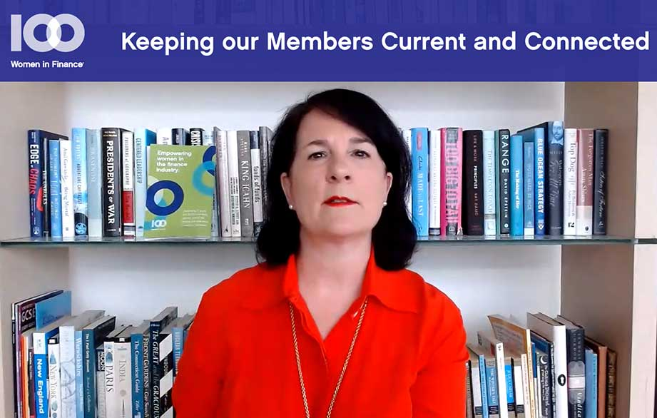 A video update for 100WF members from Amanda Pullinger, CEO of 100 Women in Finance