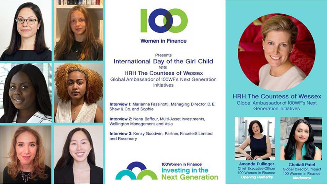 100 Women in Finance and HRH The Countess of Wessex celebrate the 25th Anniversary of The International Day of the Girl Child