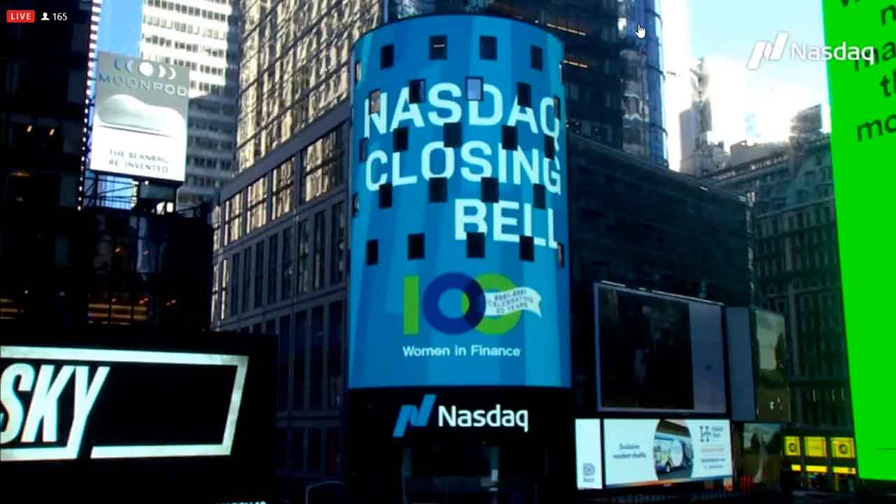 100WF Celebrate 20 Years with the Virtual Market Closing at NASDAQ